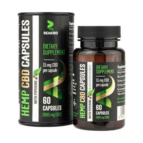 Picture of Hemp CBD Capsules with Piperine 900 mg